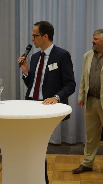 Begrüssung der Gäste beim Galadinner - Bernie Maidment
