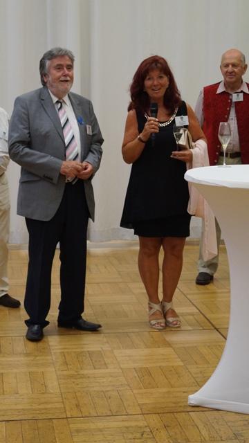 Begrüssung der Gäste beim Galadinner - Margarethe Rathgeber