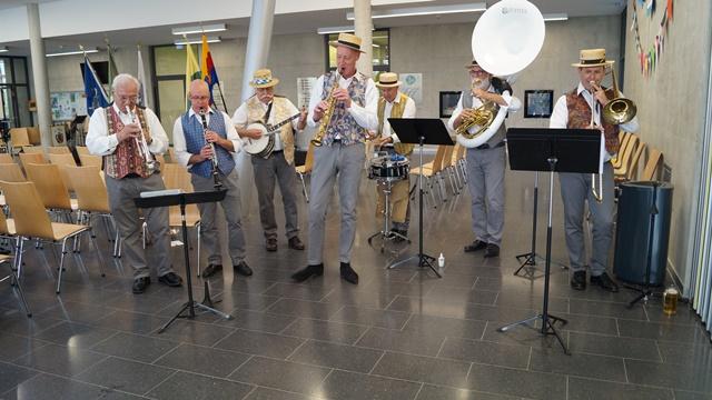 nach dem Festakt - die Jazz-Formation der Harmonie du Vésinet